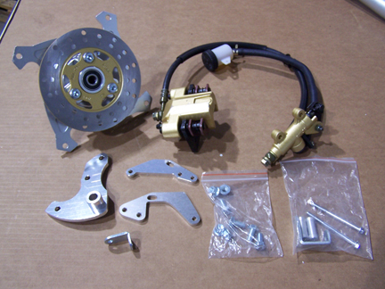 Ct Rear Disc Brack Kit on Honda St90 Clone
