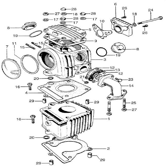 Z50a  Z50r Cylinder Head Gasket